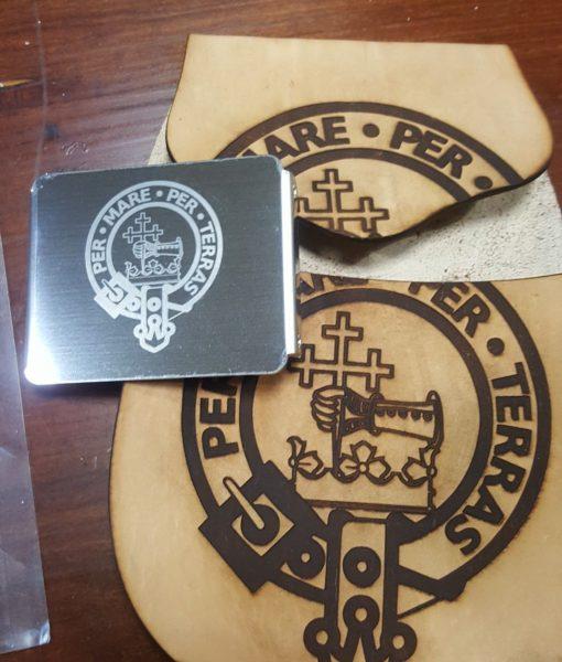 engraved belt buckle