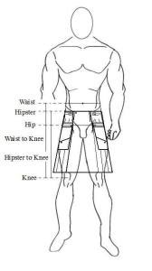 How to measure your Cargo Kilt