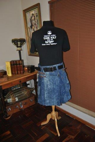 Denim Cargo Kilt