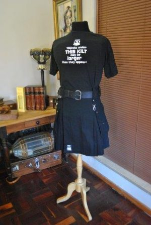 Objects under this kilt may be larger than they appear shirt