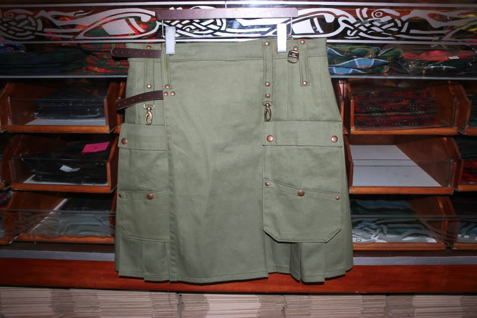 Olive Drab Cargo Kilt