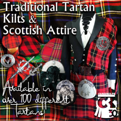 We weave over 100 tartans to exacting standards and cut make and trim kilts and all Highland accessories Traditional Scottish Kilts are available in over 100 different artisinal Tartans.  Our tartans are luxurious, wool rich, durable, moth proof and hand washable.