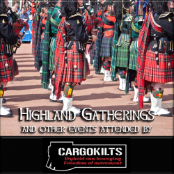 Cargokilts regularly attend the Pipe Band Gatherings and Highland Festivals throughout South Africa. Our 2019 event dates will soon be available here. Do visit our Facebook page for most recent updates.